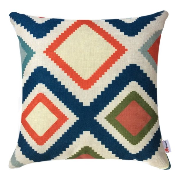 Boho Vintage-Inspired Pillow Case // 10 Geometric Print Pillow Covers for Under $10.