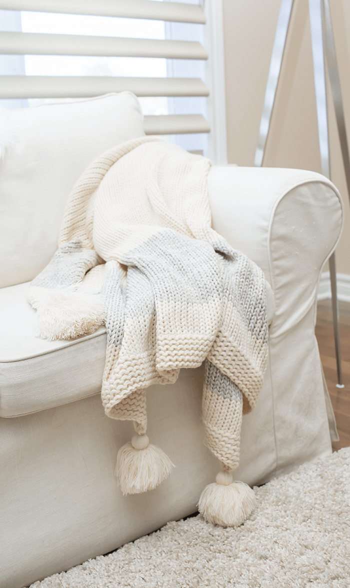 How to use blankets and pillows to make a space look better instantly.