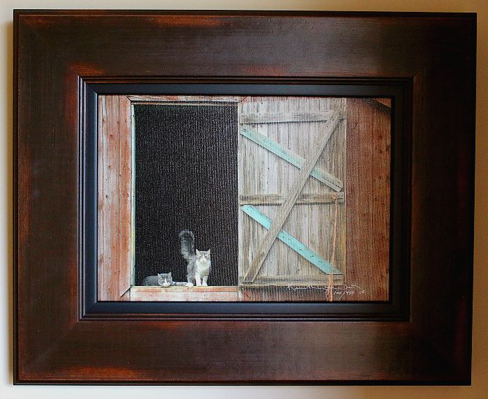 """""""Barn Cats"""" by Kenneth Lane Smith"""