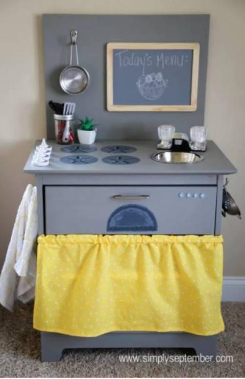 DIY toy kitchen