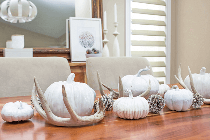 simple fall tablescape using natural elements
