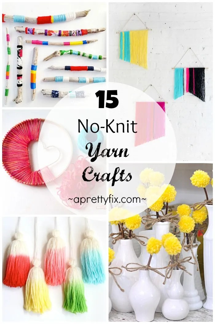 These 15 No-Knit Yarn Crafts are a great way to be inventive with your home decor without picking up a single knitting needle or crochet hook! Simple and easy to make, and incredibly chic and stylish too.