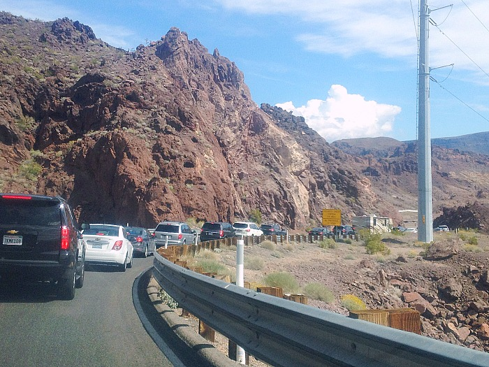 The drive to Hoover Dam.