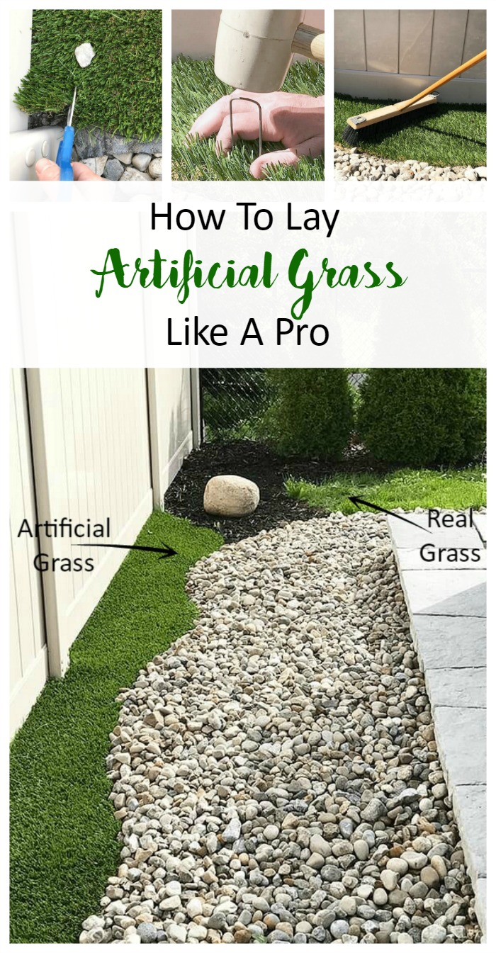 How To Lay Artificial Grass Like A Pro A Pretty Fix