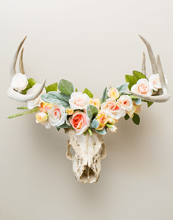 How To Make A Floral Crowned Deer Head A Pretty Fix