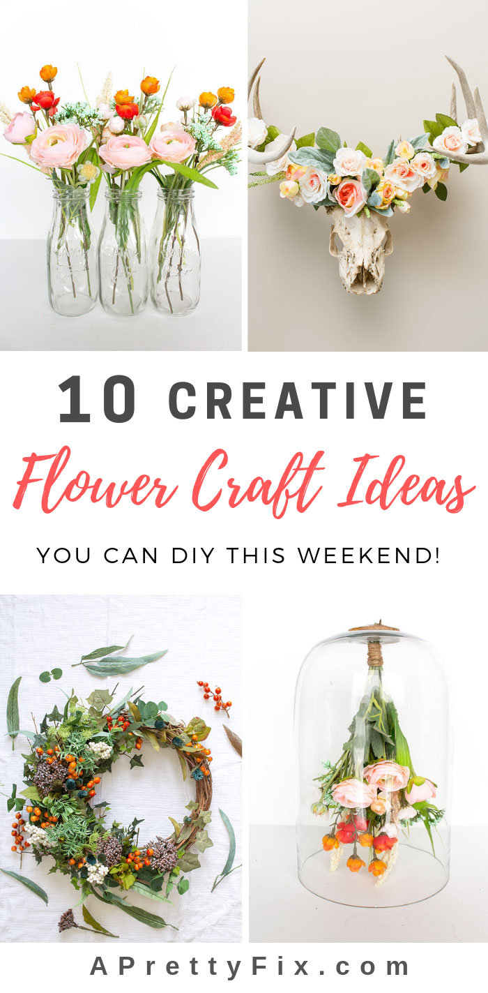 10 Creative Faux Flower Crafts You Can Diy This Weekend A Pretty Fix