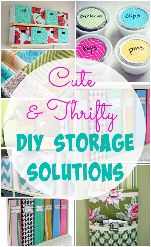 Cute storage solutions - The Happy Housie - via aprettyfix.com