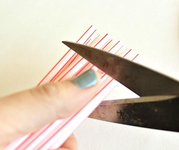 handcut straws - starburst wreath craft