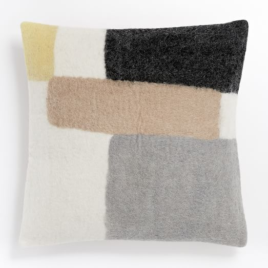 Dream Living Room - felt-colorblock-pillow-cover-citrus-yellow // www.westelm.com