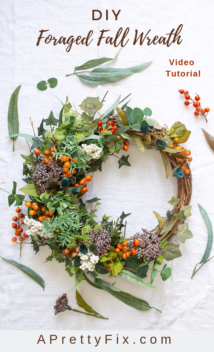 3e2a1c7a22de How to make a fall foraged wreath DIY made entirely of faux materials