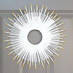 DIY sunburst wreath