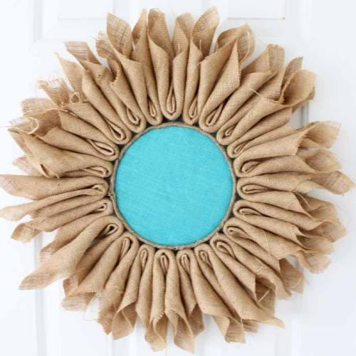 burlap wreath craft