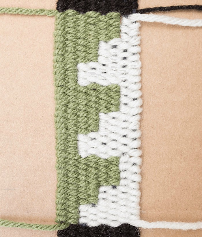 How to weave squares in a handmade bookmark design is simple.
