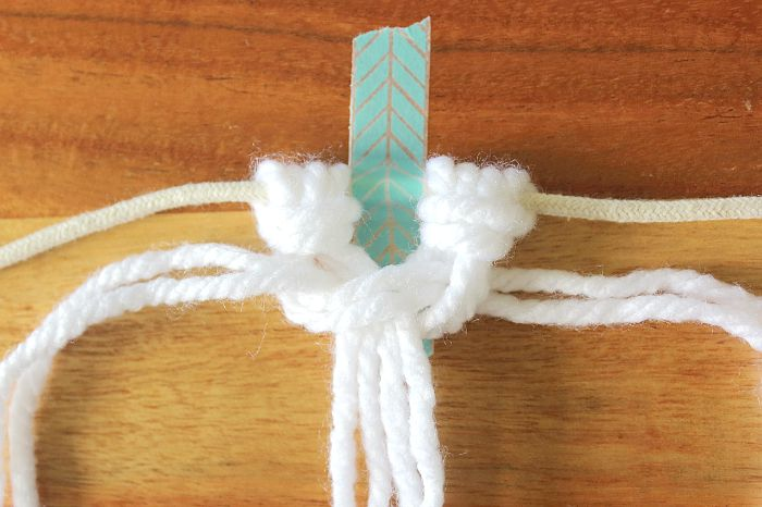top of square knot