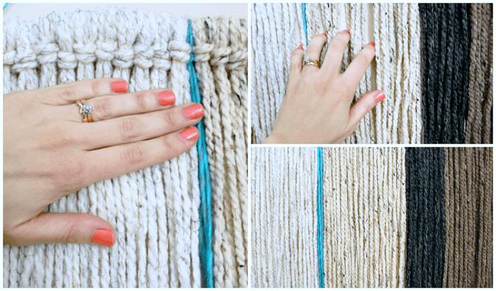 DIY yarn wall hanging. // 8 Wall Decor Ideas