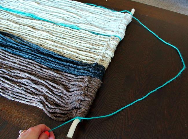 diy hanging - turquoise hanger