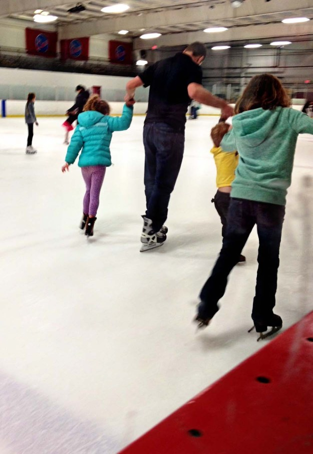 Ice skating with Dad