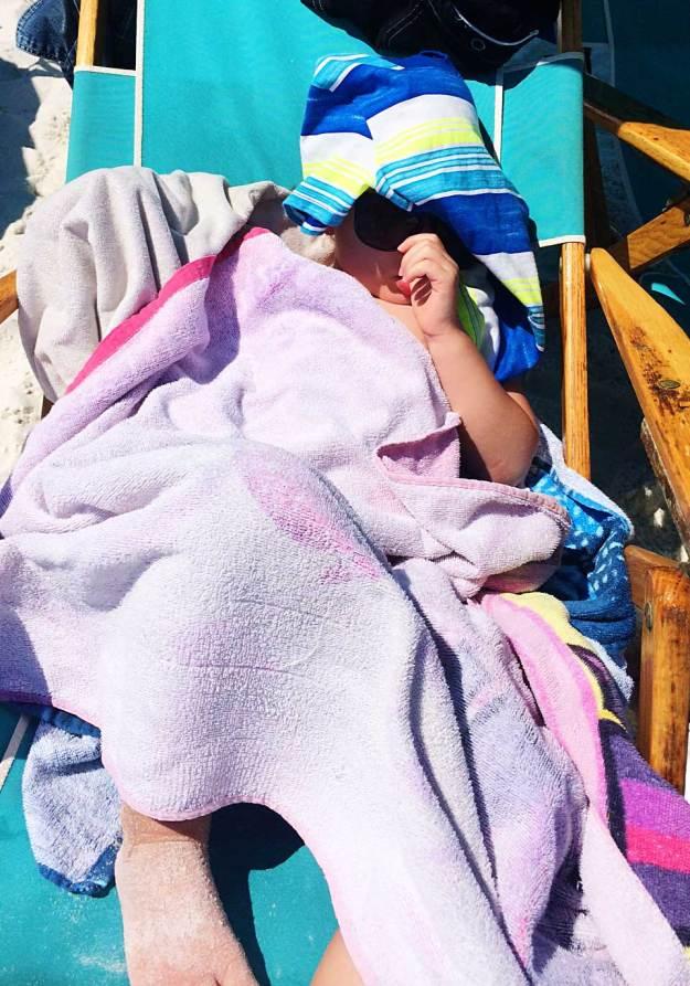 Nap on the beach.