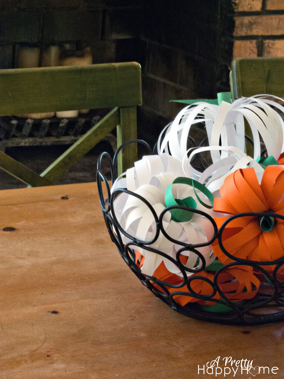 Paper pumpkin centerpiece a pretty happy home
