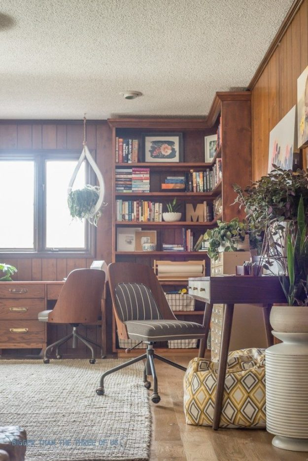 Wood Paneled Office: 1960s Wood Paneling That Looks Good