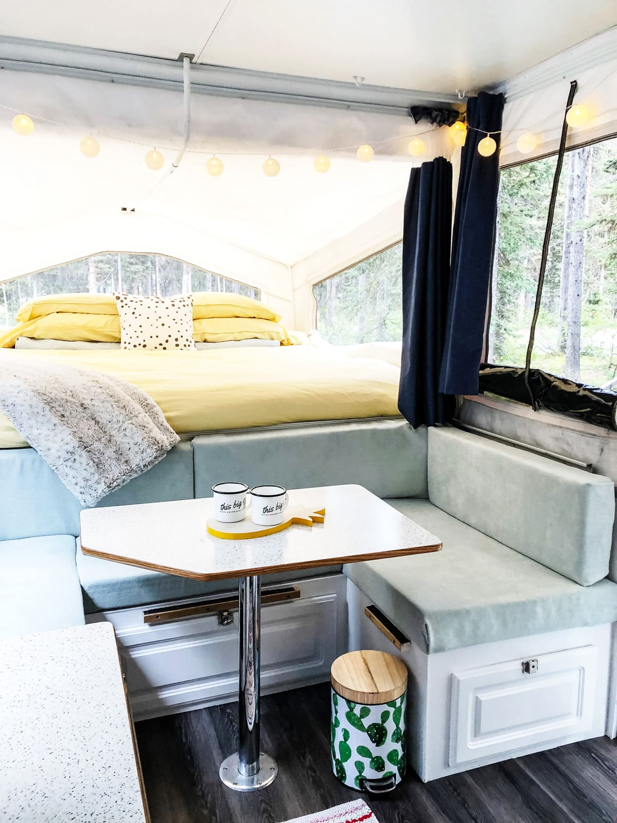 Our Diy Pop Up Camper Makeover The Reveal A Pretty Life