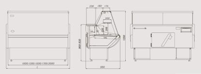 Холодильная витрина Россинка для хранения продуктов. Тел. (050) 304-42-37, (067) 925-51-86, торговое оборудование.