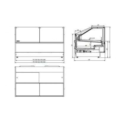 Холодильная витрина кубическая GRACIA (Грация) D 1.875для хранения суточной нормы продуктов. Купить D 0.94 на ubc.apricot.