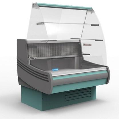 Холодильна вітрина кондитерська Muza-K-1.25 для зберігання асортименту напоїв і продуктів харчування. Зробити замовлення на apricot.