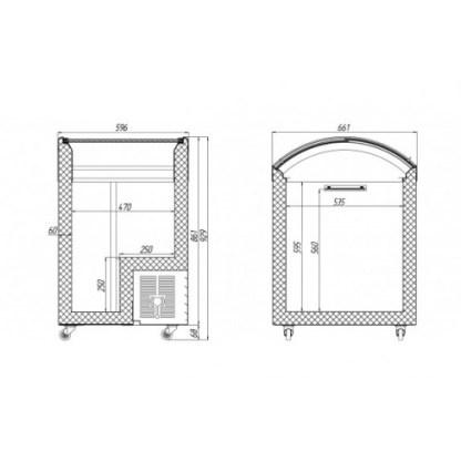 Креслення морозильної скрині JUKA M100V для зберігання продуктів харчування. Модель відрізняється невеликими габаритами, при достатній площі для зберігання продуктів. Тел. (050) 304-42-37, (067) 925-51-86 торгове обладнання.