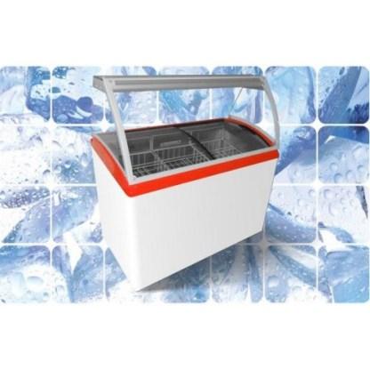 Вітрина для морозива JUKA M600SL. Панорамне скло загартоване, має вигнуту форму з антибліковим ефектом. ☎ (050) 304-42-37 ❊