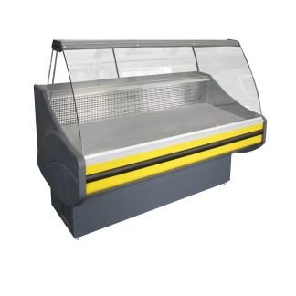 Холодильна вітрина Savona-П-1,2 ВС для демонстрації різної продукції. Боковини з АВS пластика залиті пінополіуретаном. Купити ➱ apricot.kiev.ua ⚑