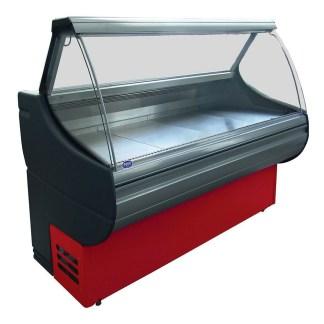 Холодильна вітрина РОСС Sorrento-П-2,4 призначена для зберігання і демонстрації гастрономічних продуктів в магазинах і супермаркетах. Виготовляється як з вбудованим холодильним агрегатом, так і під виносне холодопостачання. Купити на apricot.