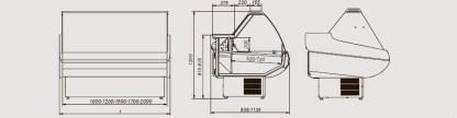 Креслення універсальної холодильної вітрина Siena з плоским склом. Відмінно підійде для зберігання різної продукції. Купити по супер ціні на apricot.