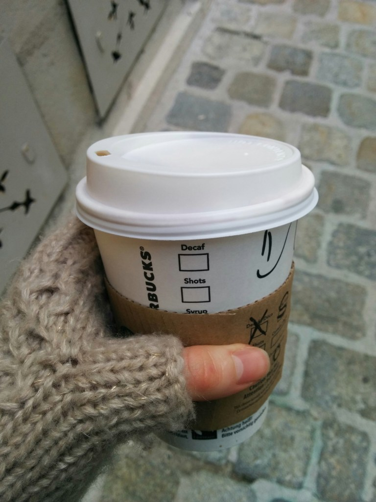 Starbucks cup with smiley :)