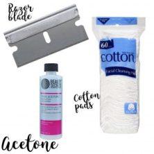 how to remove super glue from a quartz countertop