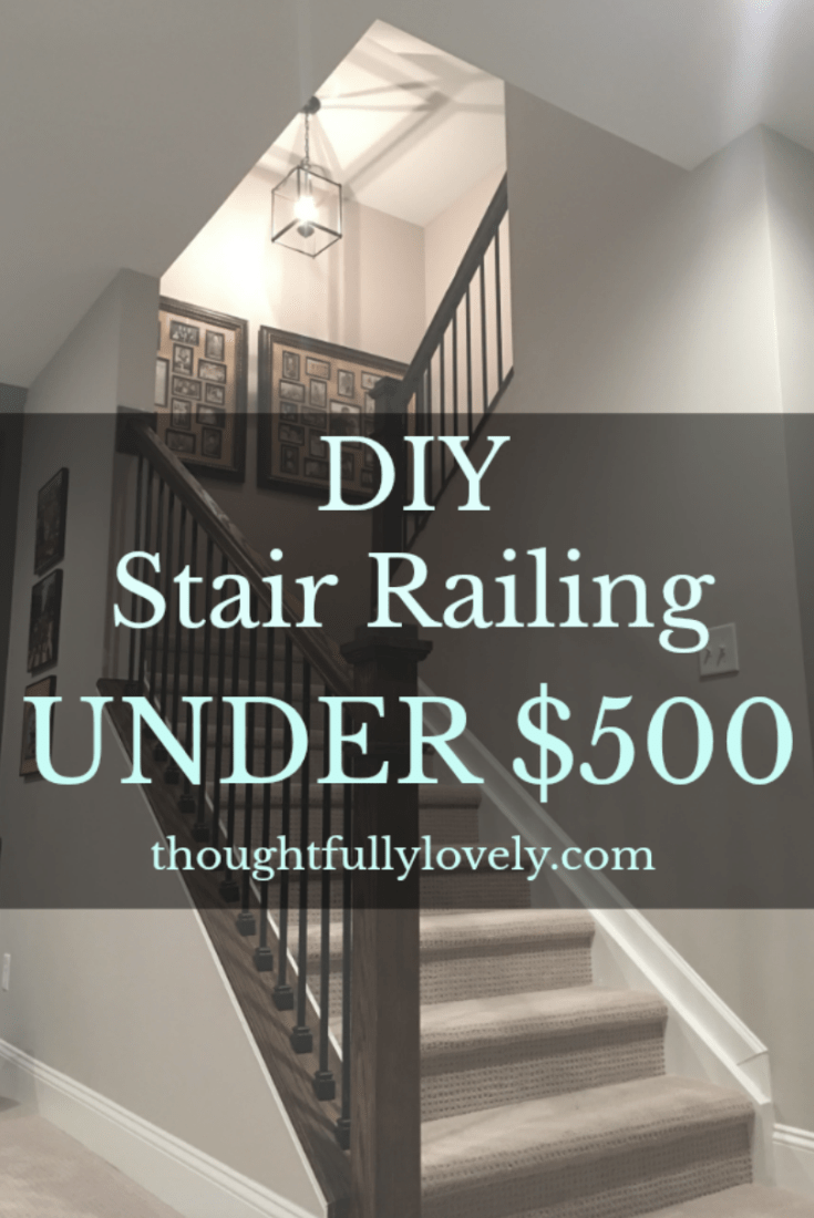 DIY stair railing
