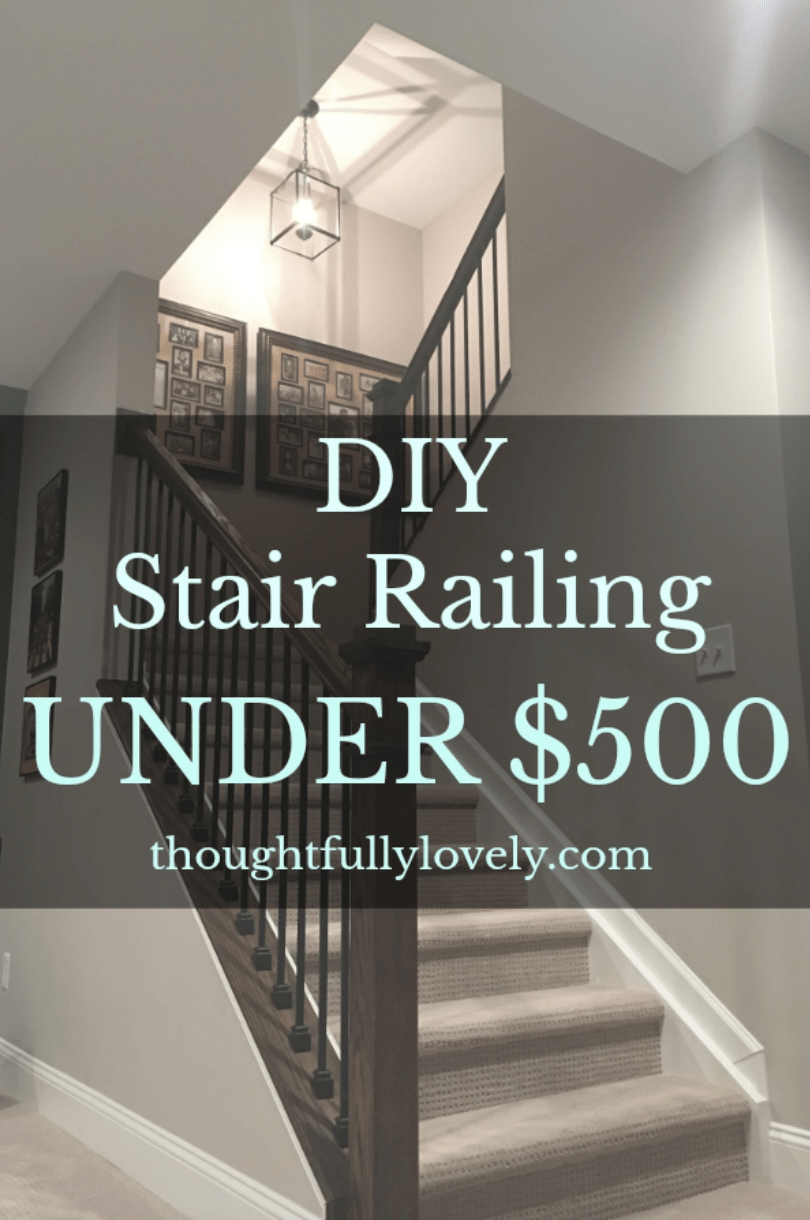 Diy Banisters Still Dreaming Of A Finished Basement April | Building A Stair Rail | Craftsman Style | White | Horizontal | Glass | Inexpensive