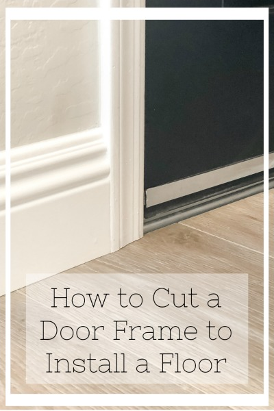 How to cut a door frame