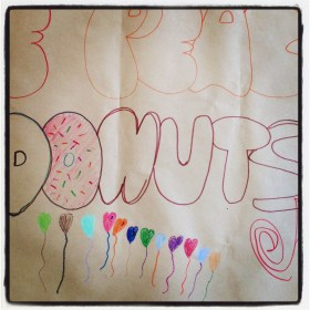 Peace Love and Donuts on the April Eight Songs & Stories Podcast at aprileight.com