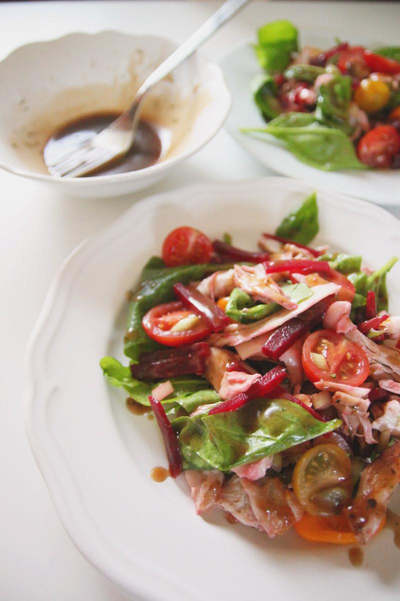 Chicken, Beetroot and Mozarella Salad