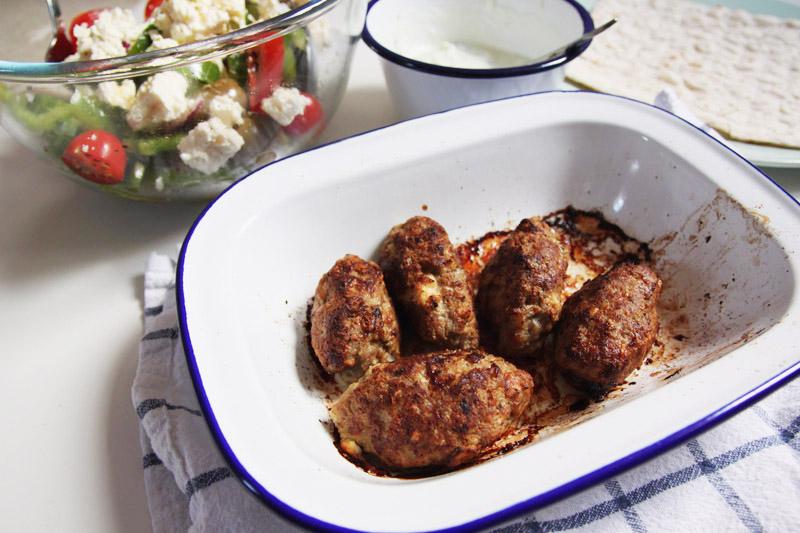 Greek Style Lamb Kofta with Greek Salad Recipe