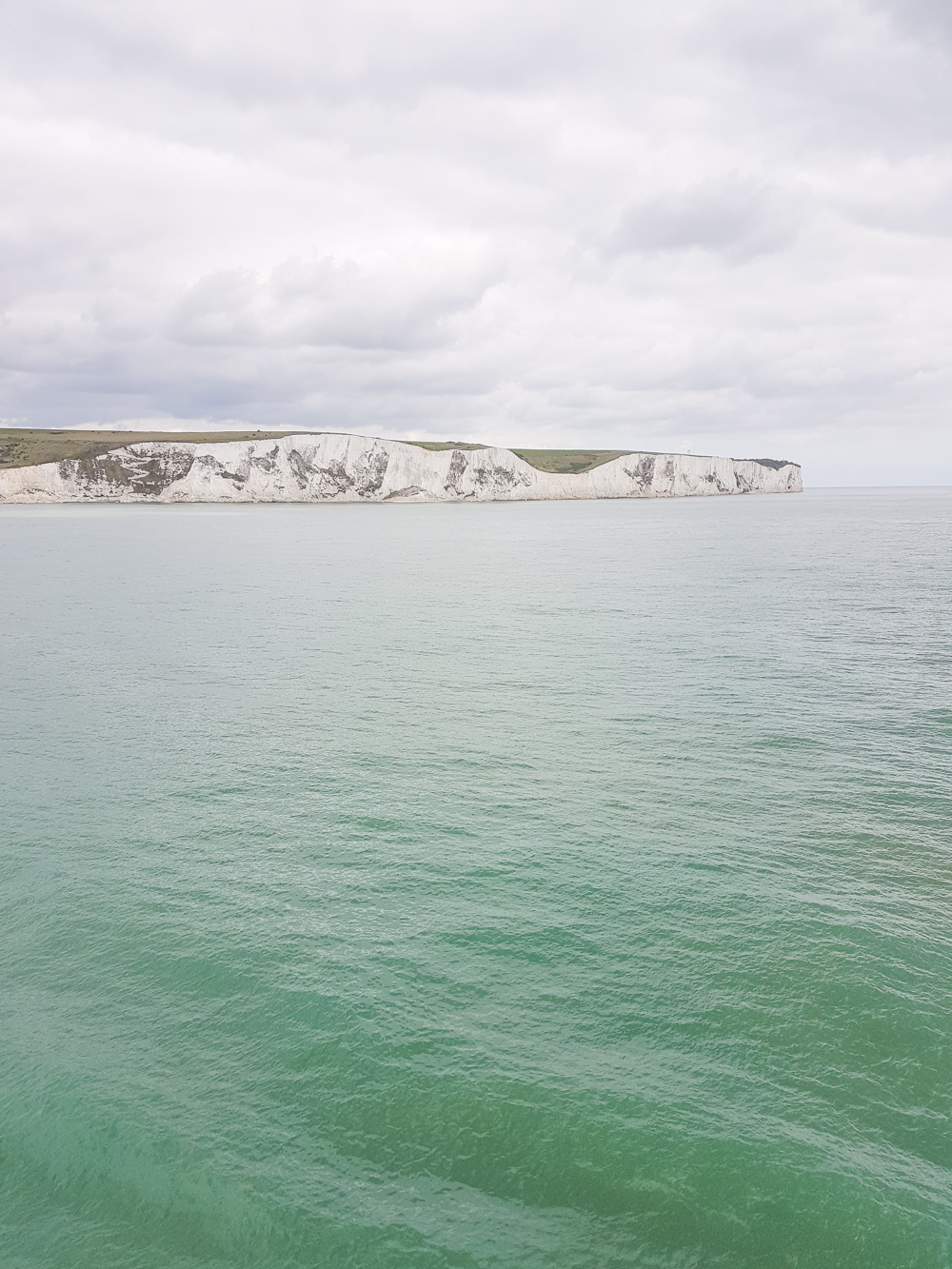 White Cliffs of Dover from Ferry