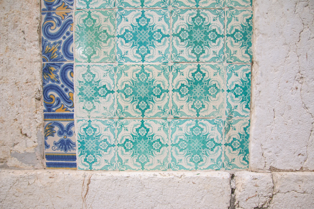 Tiles in Alfama, Lisbon, Portugal