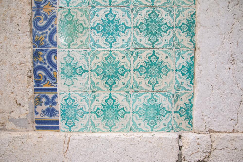 Tiles in Alfama, Lisbon, Portugal
