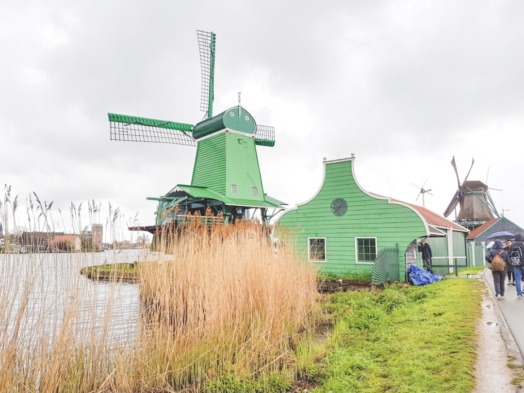 Windmills at Zaanse Schans, Holland, The Netherlands