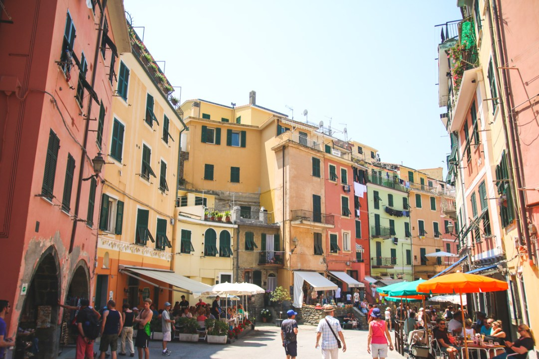 The Colourful Streets of Vernazza in Cinque Terre, Ligurai Region, Italy