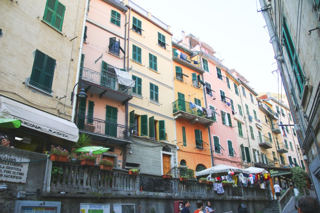 The Colourful Buildings of Riomaggiore in Cinque Terre, Ligurai Region, Italy