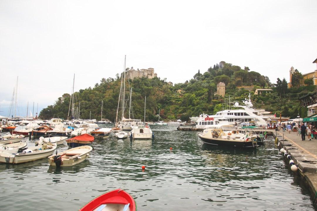 Yachts in Portofino Harbour, Liguria, Italy