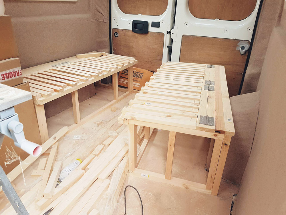 Campervan Bedframe building