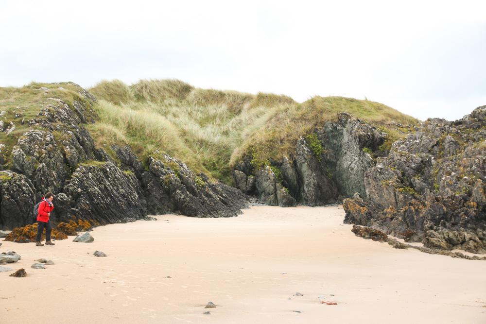 Lava Rocks on Llanddwyn Beach, Newborough Beach, Anglesey, Wales